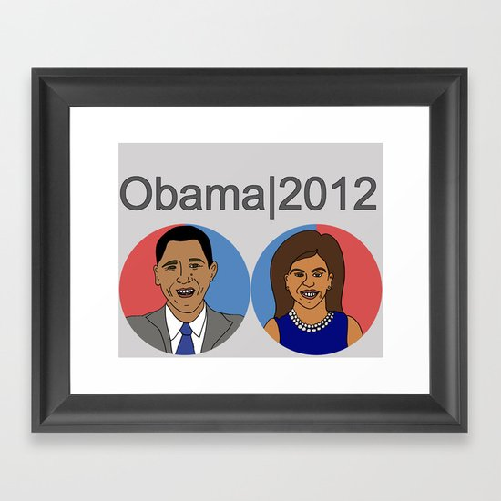 Obama, 2012 Framed Art Print