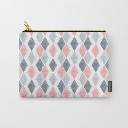 Ornament with rhombuses on a white background. Carry-All Pouch