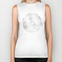 gray pattern Biker Tanks featuring Crosshatch Gray by Caitlin Workman