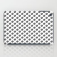 records iPad Cases featuring Pattern Records by Idan David