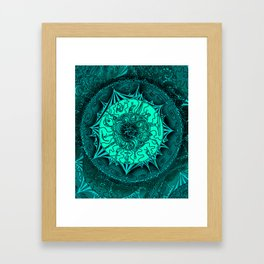 Teal Circus Framed Art Print