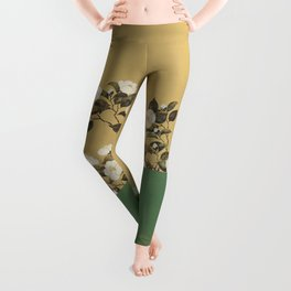 Camelias - Japanese Edo Period 2-Panel Screen Leggings