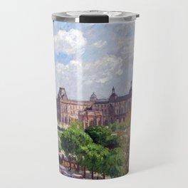 Camille Pissarro Place du Carrousel, Paris Travel Mug