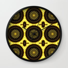 Sunflower Manipulation Grid 2 Wall Clock