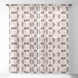 Pink Fall Tribal #society6 #tribal Sheer Curtain