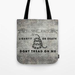 Culpeper Minutemen flag, Worn distressed version Tote Bag