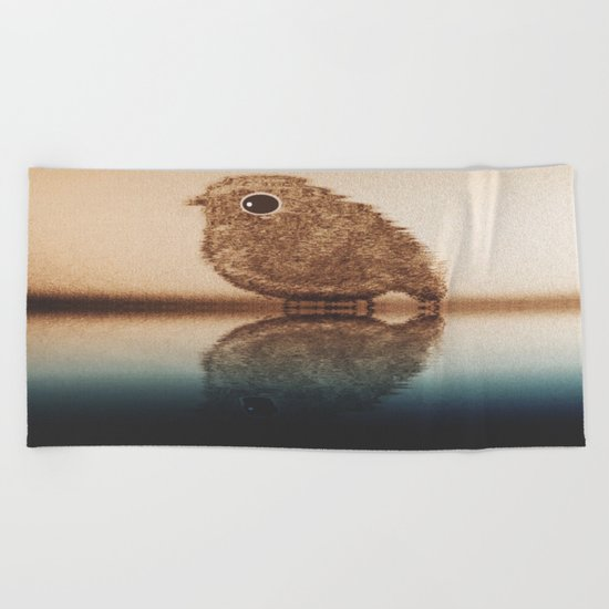 bird-871 Beach Towel