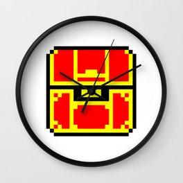 Treasure Chest, 8 bit like, gold, money, jewel, box Wall Clock