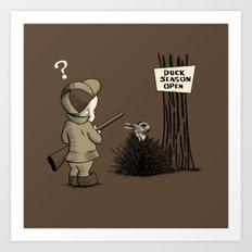 Duck or rabbit? Art Print