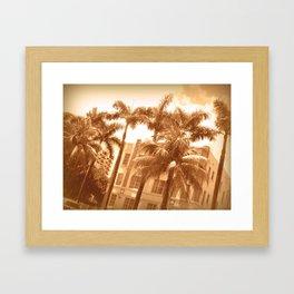 Sepia South Beach Framed Art Print