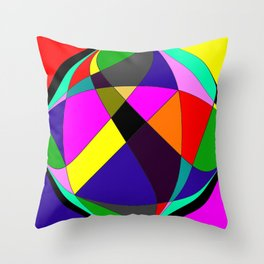 Crossing Cirlcles Throw Pillow