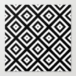 Tribal B&W Canvas Print