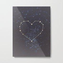 Shining Heart Constellation Metal Print