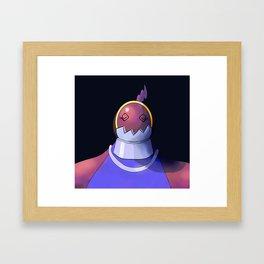 Defender Heartless Girl Framed Art Print