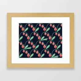 Daily pattern: Retro Flower No.12 Framed Art Print