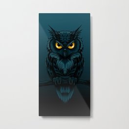 owl night Metal Print