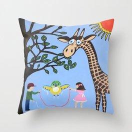 Nature's Playground Throw Pillow