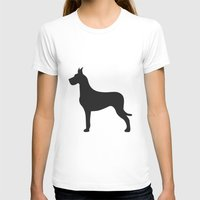 great dane T-shirts featuring Great Dane by Megan Clark