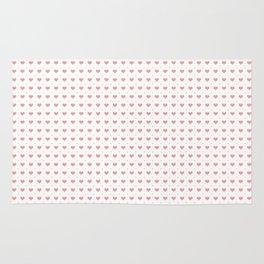 Pink Hearts Pattern Big Little Rug