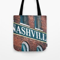 nashville Tote Bags featuring Nashville by GF Fine Art Photography
