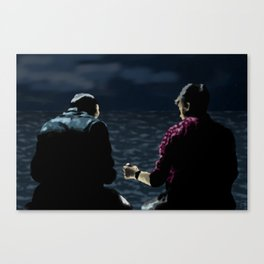 John and Rodney on the Pier Canvas Print