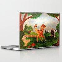 bambi Laptop & iPad Skins featuring Bambi by Jadie Miller