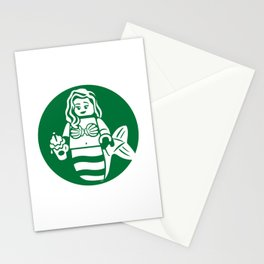 Minifigure Mermaid Stationery Cards