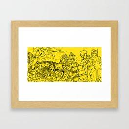 CREEPS ASSEMBLE! Framed Art Print