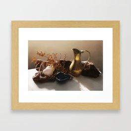 Warm Still Life Painting Framed Art Print