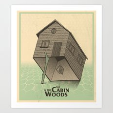 The Cabin In The Woods - Movie Poster Art Print