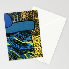 town by the ocean Stationery Cards
