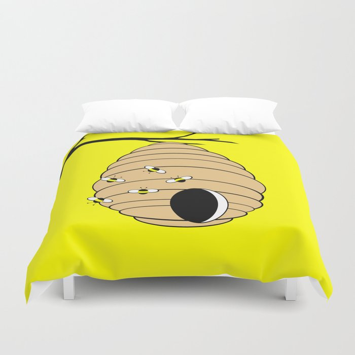 Bee My Honey in Color Duvet Cover