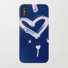 White Heart iPhone X Slim Case