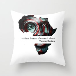African Leaders - Thomas Sankara Throw Pillow