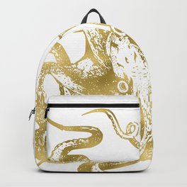 Gold Octopus Backpack