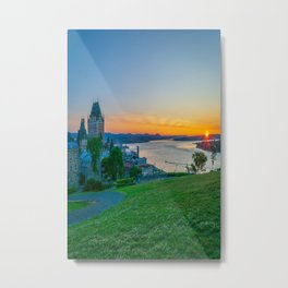 Quebec City St Lawrence River Sunrise Metal Print