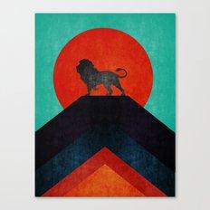 Lion on top X Canvas Print