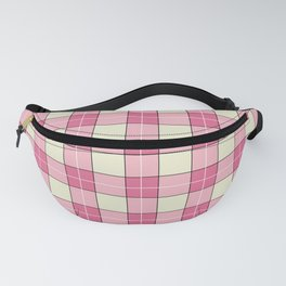 pink plaid - pink checkered Fanny Pack