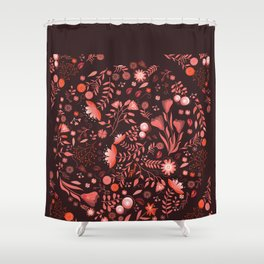 Coral flowers Shower Curtain