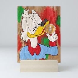 Scrooge McDuck and Bitcoin Mini Art Print