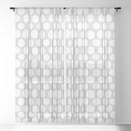 White Dots on Light Gray Sheer Curtain