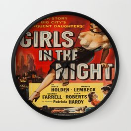 Vintage poster - Girls in the Night Wall Clock