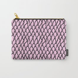 Fishing Net Black on Blush Carry-All Pouch