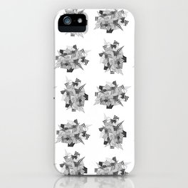 Abstract crystal pattern iPhone Case