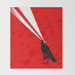 Laser Crow Throw Blanket