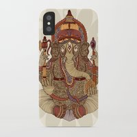 ganesha iPhone & iPod Cases featuring Ganesha: Lord of Success by Valentina Harper