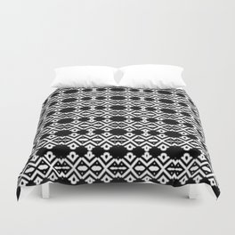 Arrows and Diamond Black and White Pattern 2 Duvet Cover