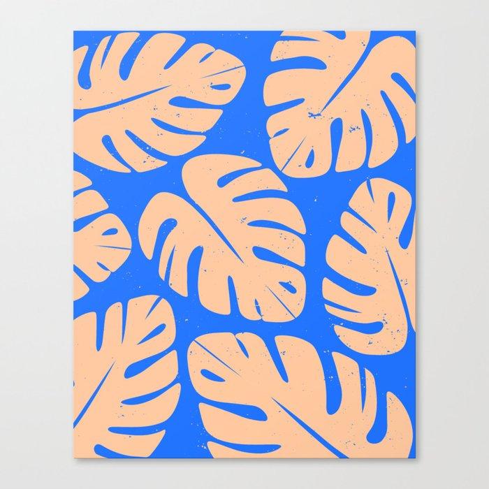 Monstera Leaf Print 5 Canvas Print