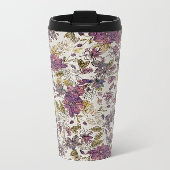 Dreaming Florals Metal Travel Mug