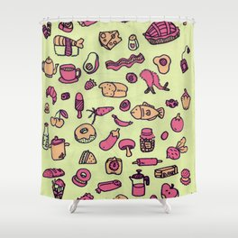 Cravings in Honeydew Shower Curtain